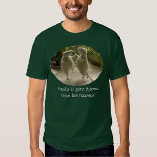 Duerme del gato del EL de Cuando, camiseta bailan
