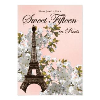 Dulce 15 de la torre Eiffel quince invitaciones