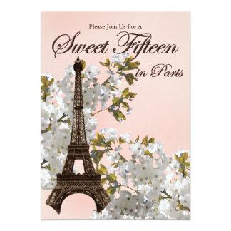 Dulce 15 de la torre Eiffel quince invitaciones Invitación 12,7 X 17,8 Cm