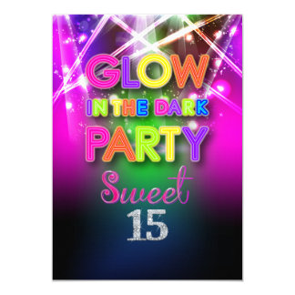Dulce 15, luces laser/fiesta de PixDezines del Invitación 12,7 X 17,8 Cm