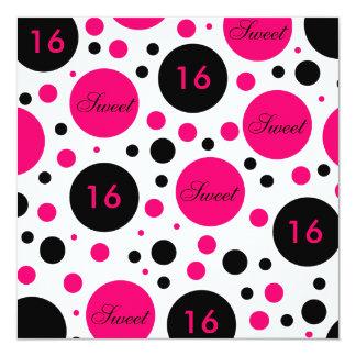 Dulce 16 Cumpleaños-Rosado Invitación 13,3 Cm X 13,3cm