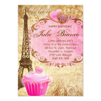 Dulce 16 de la torre Eiffel de París de la fiesta Invitación 12,7 X 17,8 Cm