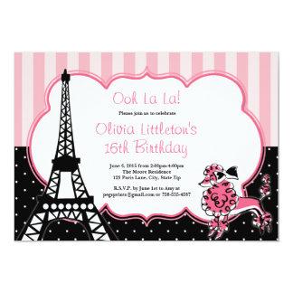Dulce 16 de las invitaciones del cumpleaños de invitación 12,7 x 17,8 cm