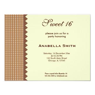 Dulce 16 invitación 10,8 x 13,9 cm