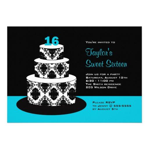 Dulce 16 invitaciones de la fiesta de cumpleaños comunicado