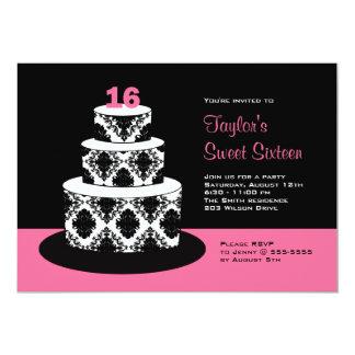 Dulce 16 invitaciones de la fiesta de cumpleaños comunicados personalizados