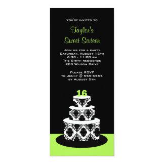 Dulce 16 invitaciones de la fiesta de cumpleaños invitación 10,1 x 23,5 cm
