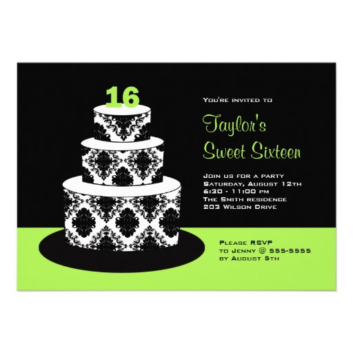 Dulce 16 invitaciones de la fiesta de cumpleaños e comunicados personales