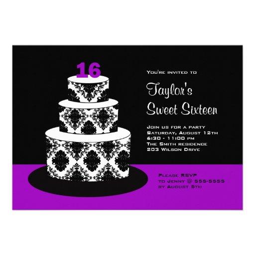 Dulce 16 invitaciones de la fiesta de cumpleaños e invitacion personalizada