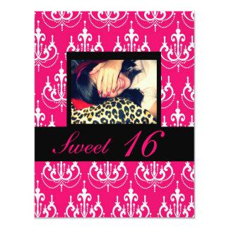 Dulce 16 invitaciones de la fiesta de cumpleaños invitación 10,8 x 13,9 cm