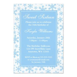 Dulce azul 16 del país de las maravillas del invitación 12,7 x 17,8 cm