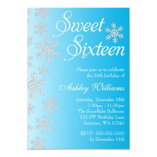 Dulce azul de lujo 16 del país de las maravillas invitación 11,4 x 15,8 cm