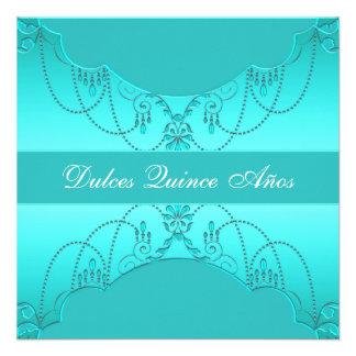 Dulce azul quince Quinceanera del trullo Anuncios