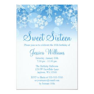 Dulce blanco azul 16 del país de las maravillas invitación 11,4 x 15,8 cm
