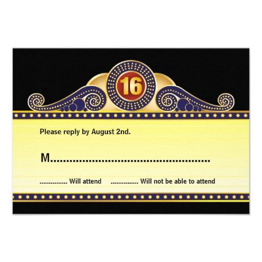 Dulce de la carpa del teatro tarjeta de contestaci comunicados