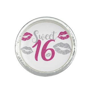 dulce-dieciséis anillos