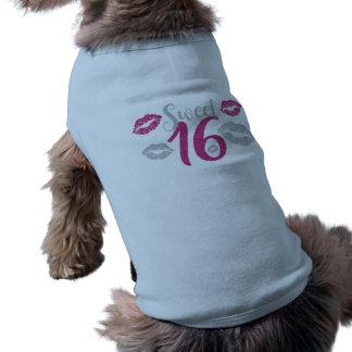 dulce-dieciséis camiseta sin mangas para perro