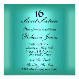 Dulce dieciséis invitación de 16 trullos