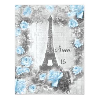 Dulce elegante lamentable 16 de la torre Eiffel y Invitación 10,8 X 13,9 Cm