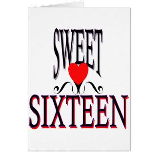 Dulce engranaje de 16 cumpleaños tarjeta de felicitación