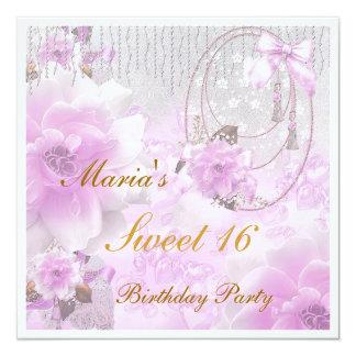 Dulce invitación de 16 cumpleaños