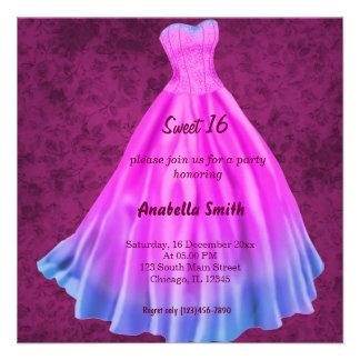 Dulce largo 16 (rosa) del vestido comunicado