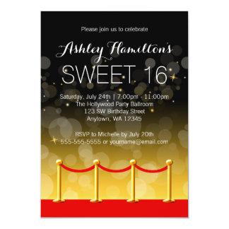 Dulce moderno 16 de Hollywood de la alfombra roja Invitación 12,7 X 17,8 Cm