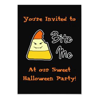 Dulce muérdame las invitaciones del fiesta de invitación 12,7 x 17,8 cm