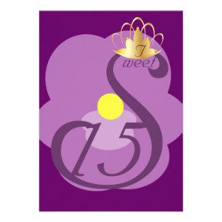 Dulce quince Coronation-Cust del cisne de la púrp