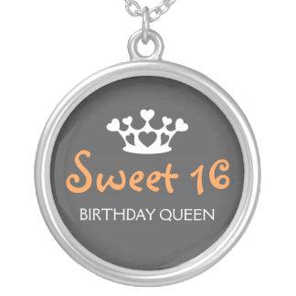 Dulce reina de dieciséis cumpleaños - naranja y gr joyeria personalizada