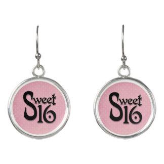 Dulce rosado del lunar 16 pendientes del