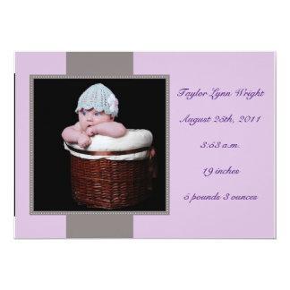 Dulce y simple - púrpura invitación 12,7 x 17,8 cm