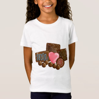 Dulces del caramelo de chocolate camiseta
