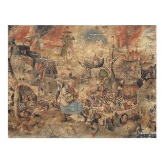 Dulle Griet (megohmio enojado) por Pieter Bruegel Tarjeta Postal