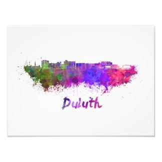 Duluth skyline in watercolor foto