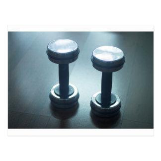 Dumbbell gym metal weights in gym health club postal