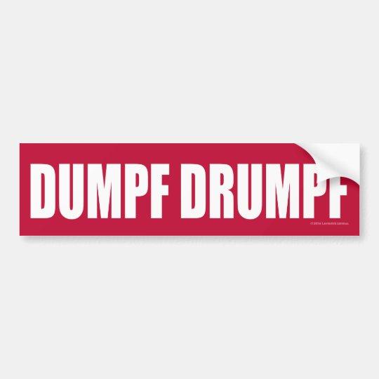 DUMPF DRUMPF (blanco en rojo) Pegatina Para Coche