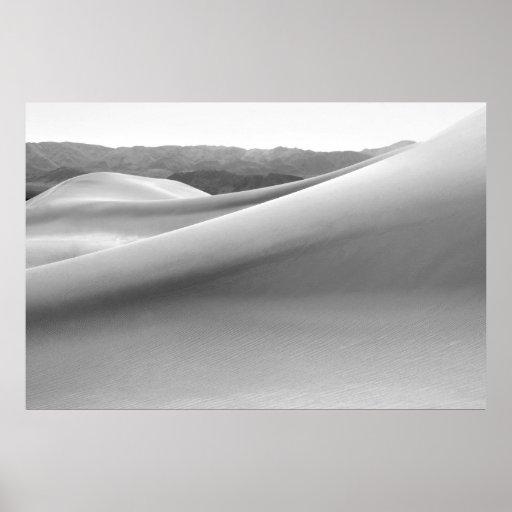 Dunas de arena del Mesquite en Death Valley Poster