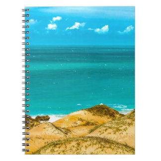 Dunas y océano Jericoacoara el Brasil Cuaderno