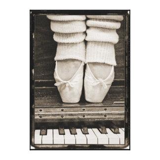 Dúo del ballet del piano de gran tamaño impresion de lienzo