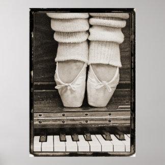Dúo del ballet del piano de gran tamaño póster