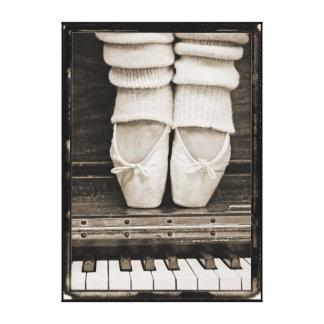 Dúo del ballet del piano mediano lienzo envuelto para galerias