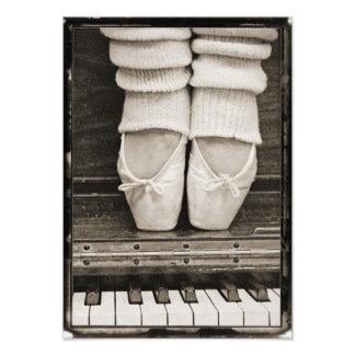 Dúo del ballet del piano mediano impresión fotográfica