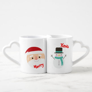 """Duo tazas """"felices Pascuas"""" """"Merry Christmas """""""