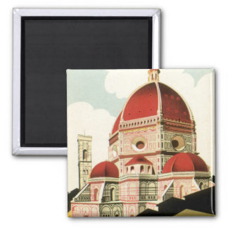 Duomo de la iglesia de Florencia Firenze Italia Imán Cuadrado