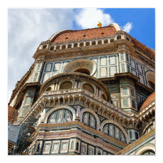 Duomo, en Florencia, Toscana, Italia Invitación 13,3 Cm X 13,3cm