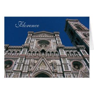 Duomo, o Santa María del fiore, Florencia, Italia Tarjeta De Felicitación
