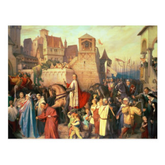 Duque Leopold el glorioso entra en Viena Postal