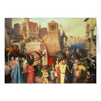 Duque Leopold el glorioso entra en Viena Tarjeta De Felicitación