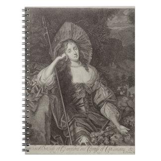 Duquesa de Barbara de Cleaveland (1641-1709) como  Libros De Apuntes